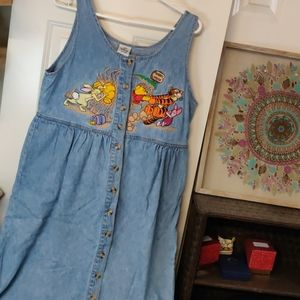 Vintage Disney Winnie the Pooh Denim dress